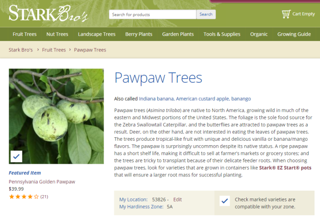 Pawpaw Trees from Stark Bro s - Paw Paw Trees For Sale
