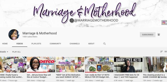 youtube marriage and motherhood