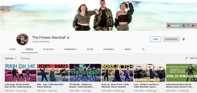 fitness marshell youtube
