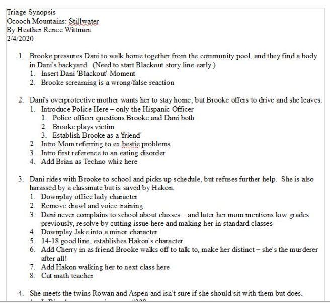 still revising old checklists